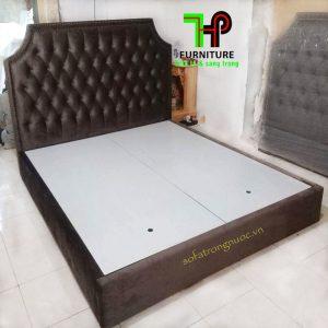 giường ngủ gỗ bọc nệm