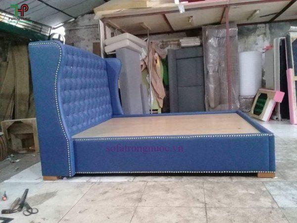 giường ngủ gỗ bọc nệm giá rẻ