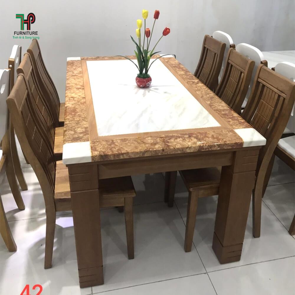 Bàn ghế ăn gỗ (1)