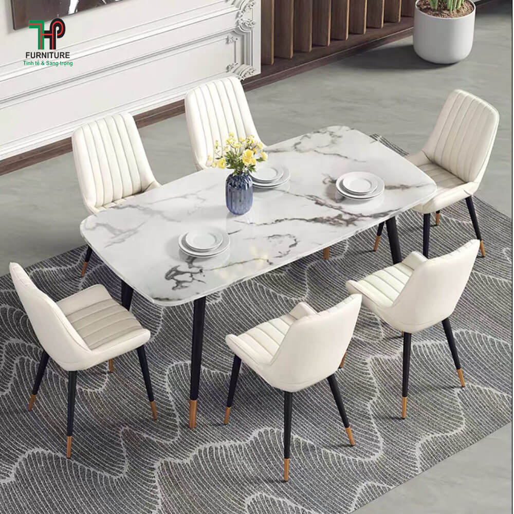 Bộ bàn ăn mặt đá (2)