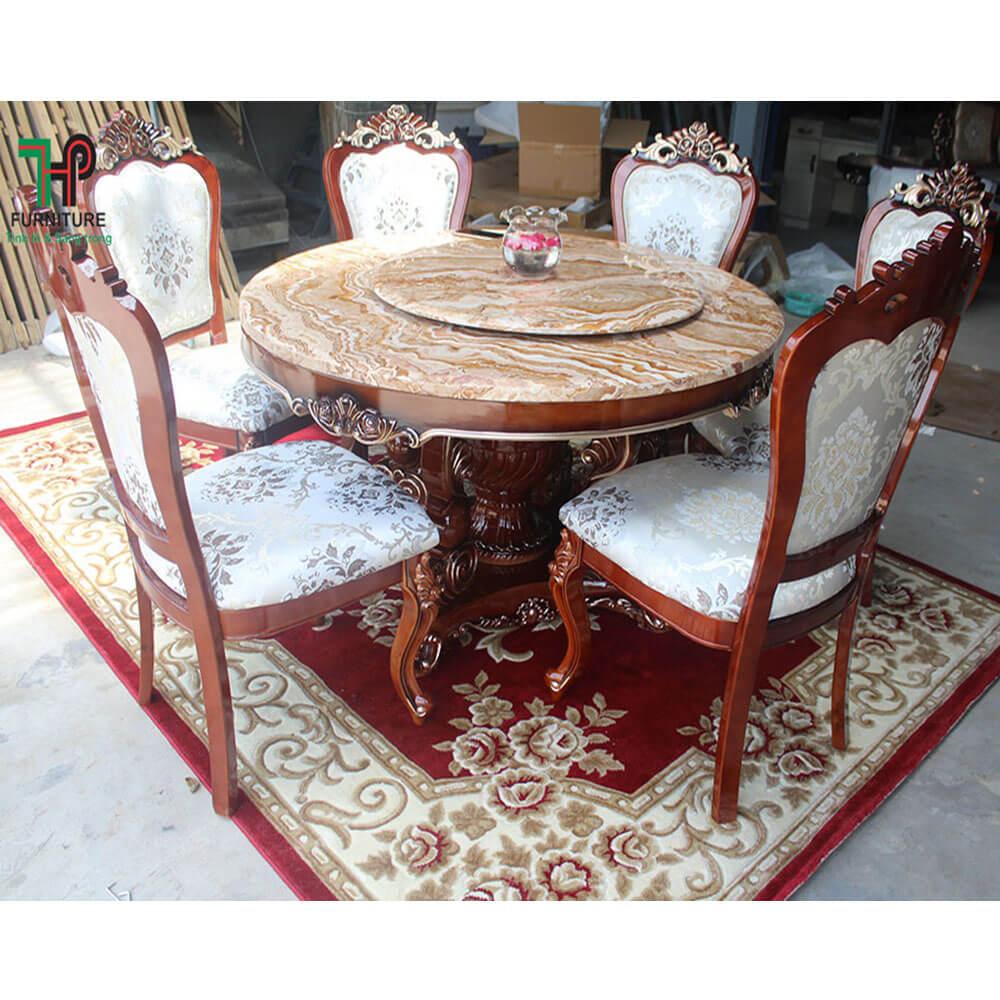Bàn ghế ăn cổ điển đẹp (1)