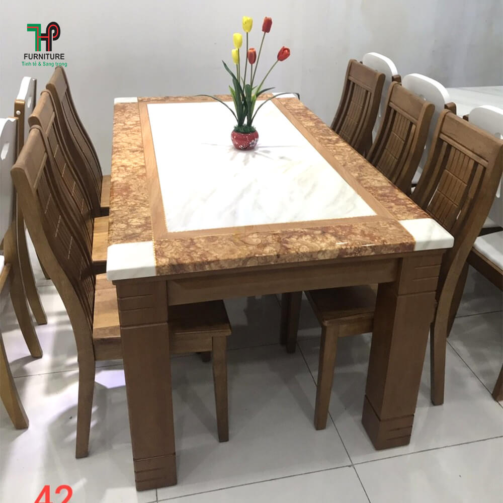 Bàn ghế ăn gỗ (3)