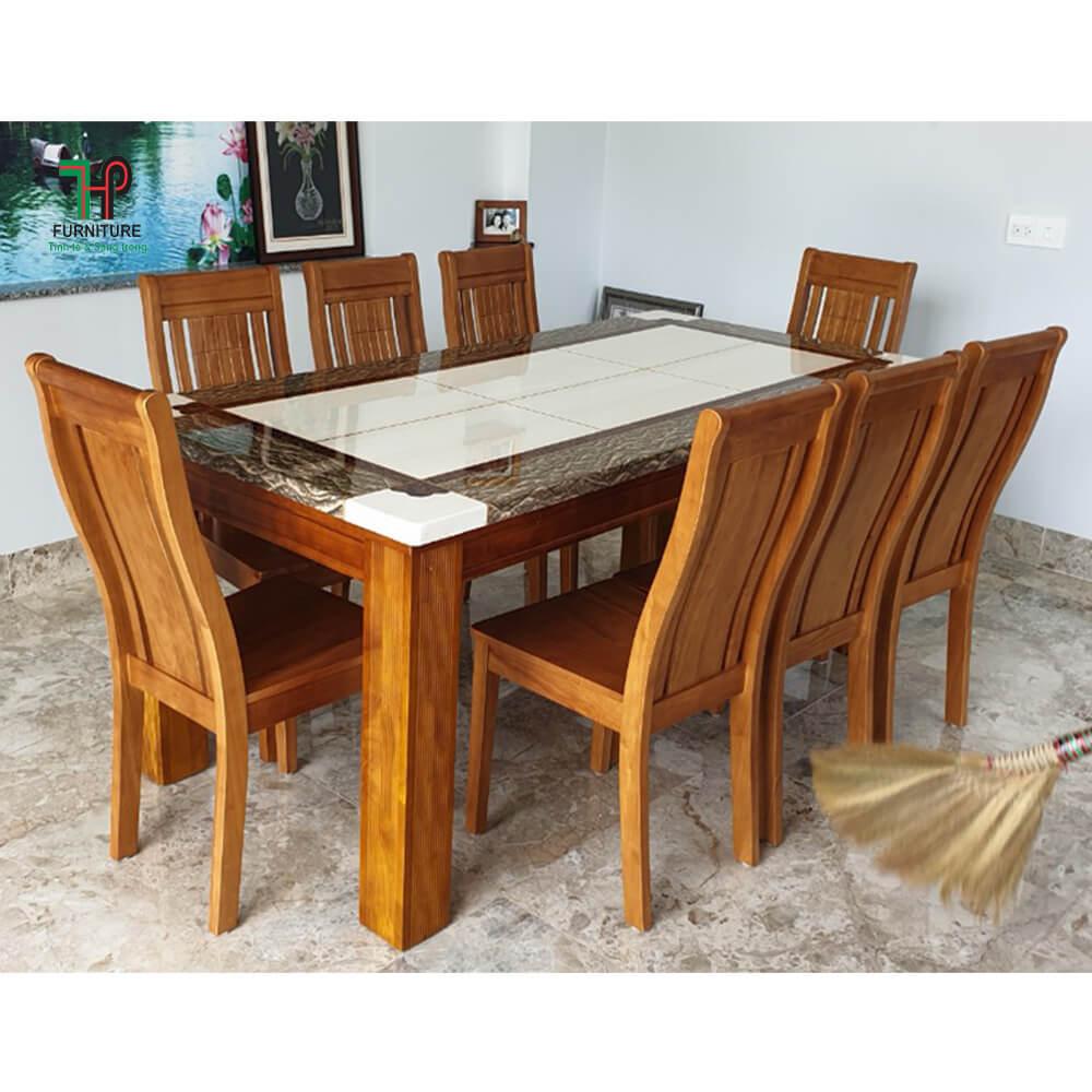 bàn ăn mặt đá marble (2)