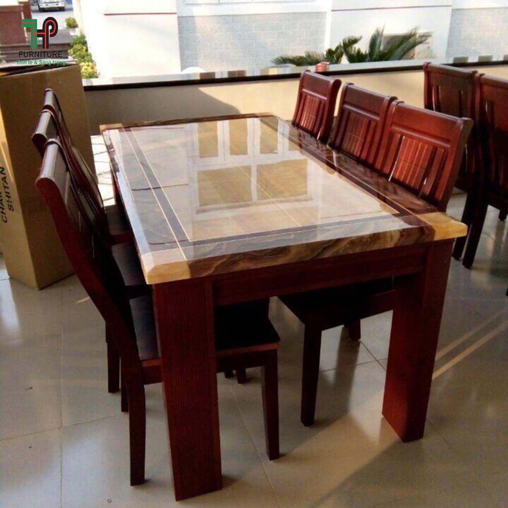 bàn ăn mặt đá marble (3)