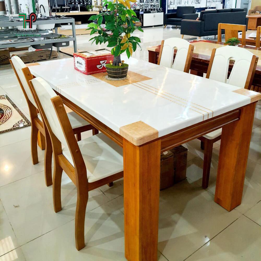bàn ghế ăn mặt đá 6 ghế (1)